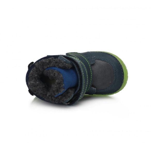 DD Step kisfiú téli bélelt cipő fluoreszkáló talppal #029-782B