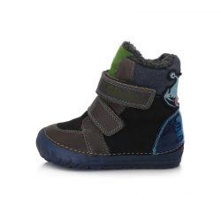 DD Step kisfiú téli bélelt cipő fluoreszkáló talppal #029-782
