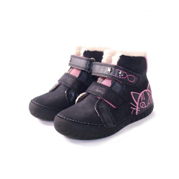 DD Step kislány világítós téli bélelt cipő #050-13C