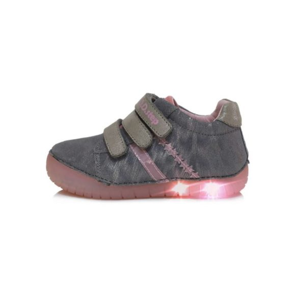 DD Step Világító talpú kislány cipő #050-631A