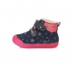 DD Step kislány  ''Barefoot'' téli bélelt fluoreszkáló cipő #066-299