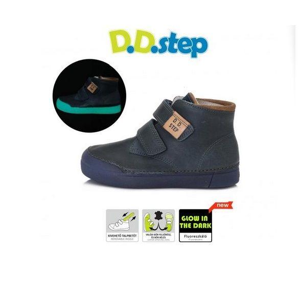 DD Step Kisfiú bokacipő fluoreszkáló talppal #068-380A