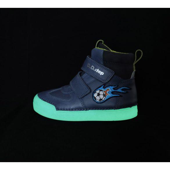 DD Step kisfiú téli bélelt cipő fluoreszkáló talppal #068-642A
