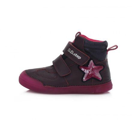 DD Step kislány téli bélelt cipő fluoreszkáló talppal #068-642E