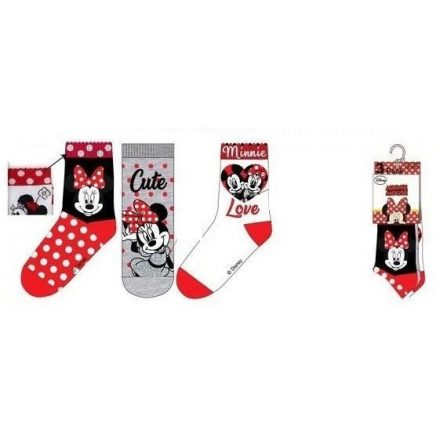 Minnie gyerek zokni  (31-34) – 3pár