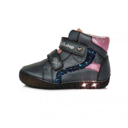 DD Step világító talpú kislány bokacipő #A050-944D