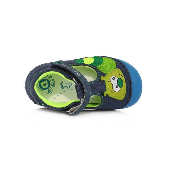 DD Step kisfiú nyitott vászoncipő #C015-969