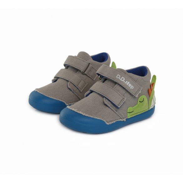 """DD Step kisfiú """"Barefoot"""" vászoncipő #C066-950A"""