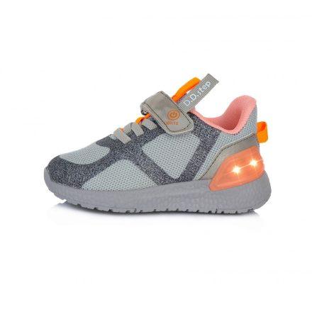 DD Step Vízlepergető kislány sportcipő világító talppal #F61-243C